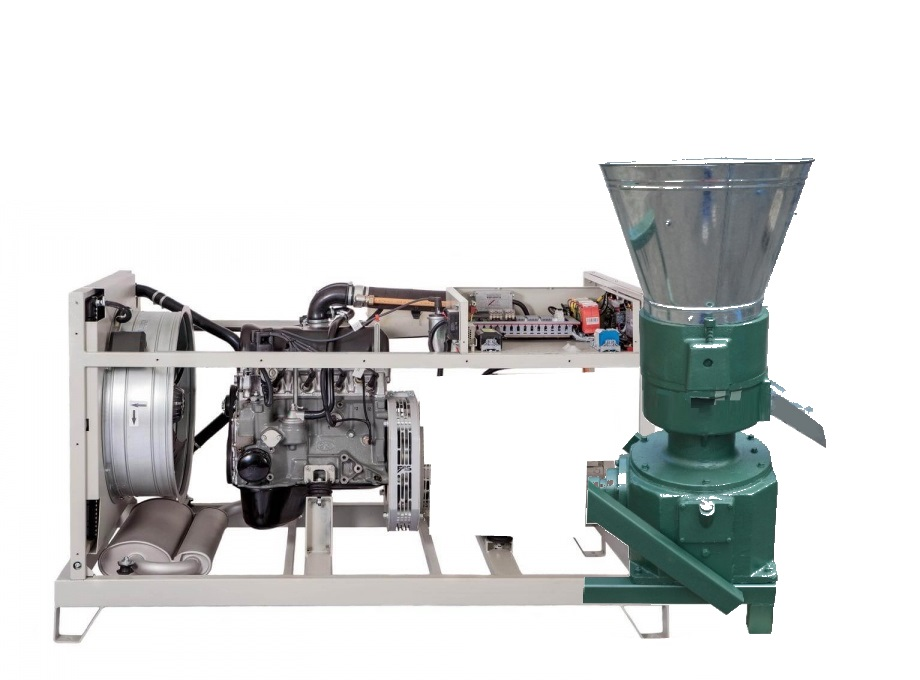 Pellets mill 400 30kW by biogas / NG engine