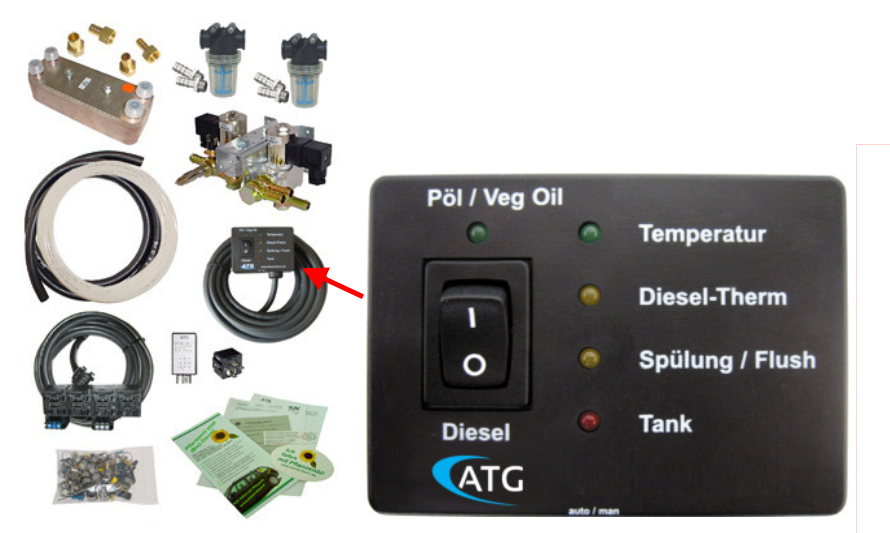 conversion kit for diesel engine 75 - 150 kW